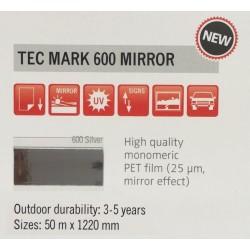 600 Silver Mirror plotter vinyl gloss / KEMICA