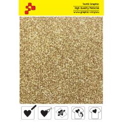 IDP425A Light Gold Pearl Glitter (Sheet) termal transfer film / iDigit