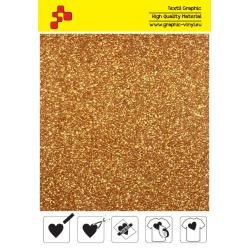 IDP425A Dark Gold Pearl Glitter (Sheet) termal transfer film / iDigit