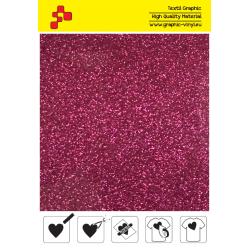 IDP432A Hot Pink Pearl Glitter (Sheet) termal transfer film / iDigit