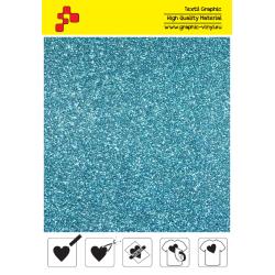 IDP445A Sky Blue Pearl Glitter (Sheet) termal transfer film / iDigit