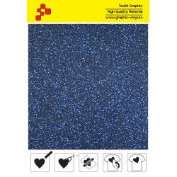 IDP423A Navy Blue Pearl Glitter (Sheet) termal transfer film / iDigit