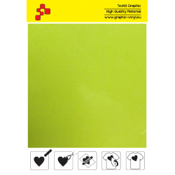 IDG728A Neon Yellow Glitter (Arch) thermal transfer film / iDigit