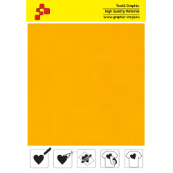 442A Neon Orange (Sheet) termal transfer film / POLI-FLEX PREMIUM