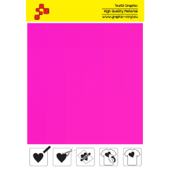 443A Neon Pink (Sheet) termal transfer film / POLI-FLEX PREMIUM