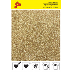 425A Light Gold Pearl Glitter (Sheet) termal transfer film / POLI-FLEX