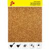 425A Dunkle Gold Glitter (Blatt) Flex Bügelfolie / POLI-FLEX
