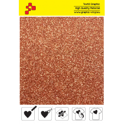 426A Copper Pearl Glitter (Sheet) termal transfer film / POLI-FLEX
