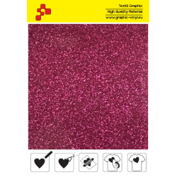 IDP432A Hot Pink Pearl Glitter (Sheet) termal transfer film / iDigit