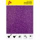 424A Purple Pearl Glitter (Sheet) termal transfer film / POLI-FLEX