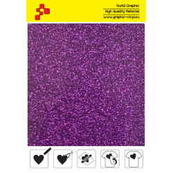 424A Purple Pearl Glitter (Sheet) termal transfer film / Poli-flex