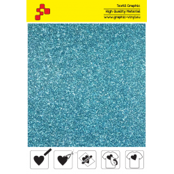 445A Sky Blue Pearl Glitter (Sheet) termal transfer film / POLI-FLEX