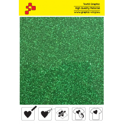 455A Green Pearl Glitter (Sheet) termal transfer film / Poli-flex