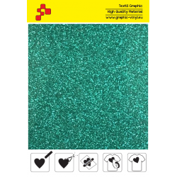 450A Emerald Pearl Glitter (Sheet) termal transfer film / Poli-flex