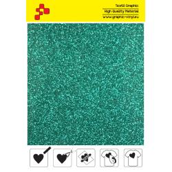 450A Emerald Pearl Glitter (Sheet) termal transfer film / POLI-FLEX