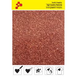 452A Bronze Pearl Glitter (Sheet) termal transfer film / POLI-FLEX