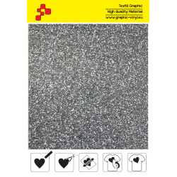 459A Grey Pearl Glitter (Sheet) termal transfer film / POLI-FLEX