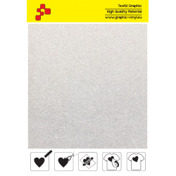 IDP444A White Pearl Glitter (Sheet) termal transfer film / iDigit