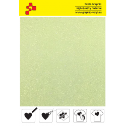 IDP446A Neon Yellow Pearl Glitter (Sheet) termal transfer film / iDigit