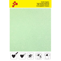 447A Neon Green Pearl Glitter (Sheet) termal transfer film / POLI-FLEX