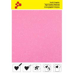448A Neon Pink Pearl Glitter (Sheet) termal transfer film / Poli-flex