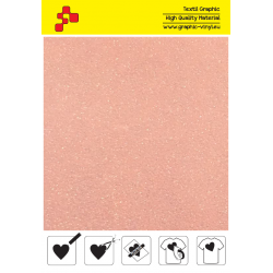 IDP449A Neon Orange Pearl Glitter (Sheet) termal transfer film / iDigit