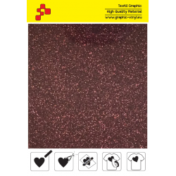 422A Burgundy Pearl Glitter (Sheet) termal transfer film / Poli-flex