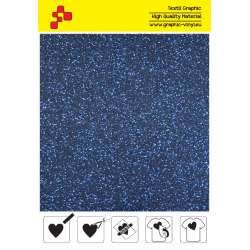 423A Navy Blue Pearl Glitter (Sheet) termal transfer film / Poli-flex