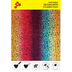 BF L777A Rainbow Glam (Sheet) termal transfer film / B-FLEX
