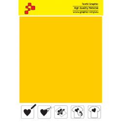 F720A Medium Yellow (Sheet) Turbo flex termal transfer film / B-flex