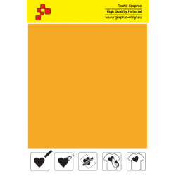 F722A Pumpkin Yellow (Sheet) Turbo flex termal transfer film / B-flex