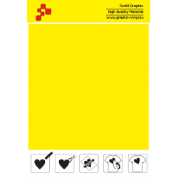 F728A Lemon Yellow (Sheet) Turbo flex termal transfer film / B-flex