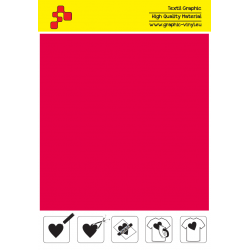 F732A Flame Red (Sheet) Turbo flex termal transfer film / B-flex