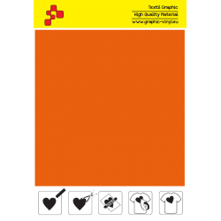 F734A Orange (Sheet) Turbo flex termal transfer film / B-flex
