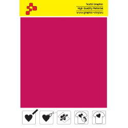 F738A Cyclamen (Sheet) Turbo flex termal transfer film / B-flex
