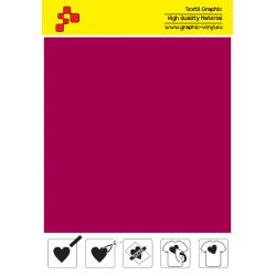 F739A Velvet Red (Sheet) Turbo flex termal transfer film / B-flex