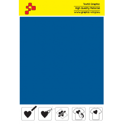 F740A Royal Blue (Sheet) Turbo flex termal transfer film / B-flex