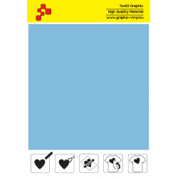 F741A Powder Blue (Sheet) Turbo flex termal transfer film / B-flex
