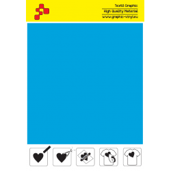 F744A Light Blue (Sheet) Turbo flex termal transfer film / B-flex