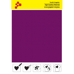 F761A Aubergine (Sheet) Speed flex termal transfer film / iDigit