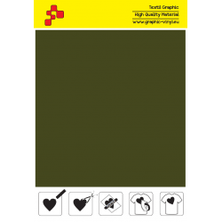 IDSF781A Olive Green (Sheet) Speed flex termal transfer film / iDigit