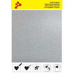 BF G700A White Glitter (Sheet) termal transfer film / B-FLEX