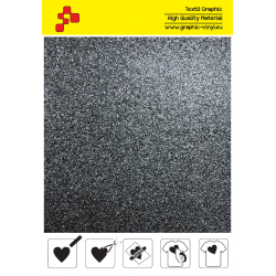 BF G710A Black Glitter (Sheet) termal transfer film / B-FLEX