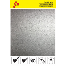BF G796A Silver Glitter (Sheet) termal transfer film / B-FLEX