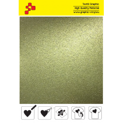 BF G792A Gold Glitter (Sheet) termal transfer film / B-FLEX