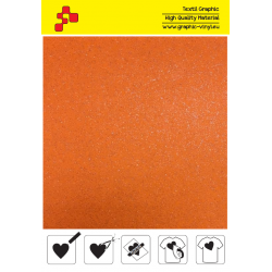 BF G734A Neon Orange Glitter (Sheet) termal transfer film / B-FLEX