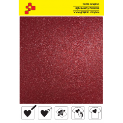 BF G730A Red Glitter (Sheet) termal transfer film / B-FLEX
