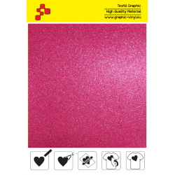 BF G736A Pink Glitter (Sheet) termal transfer film / B-FLEX