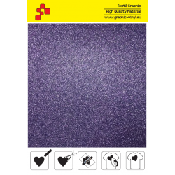 BF G770A Purple Glitter (Sheet) termal transfer film / B-FLEX