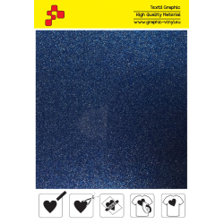 BF G740A Blue Glitter (Sheet) termal transfer film / B-FLEX